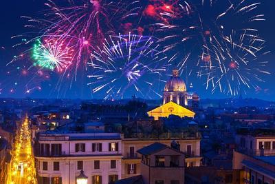 Anstoßen auf das neue Jahr in bella Roma!
