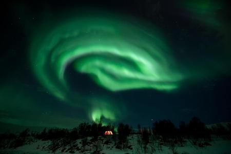 Northern Lights Husky Visit
