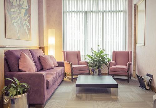 Hotel Gran Via, Zona de estar en el vestíbulo